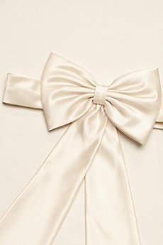 Satin Flower Girl Sash with Back Bow