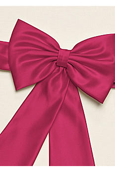 Flower Girl Satin Sash Back Bow with Tails LG1041