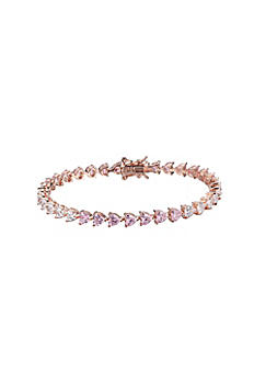 Heart-Shaped Rose Gold Tennis Bracelet S112569000
