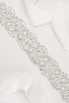 Scalloped Crystal Sash