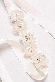 Satin Sash with 3D Flowers S2036