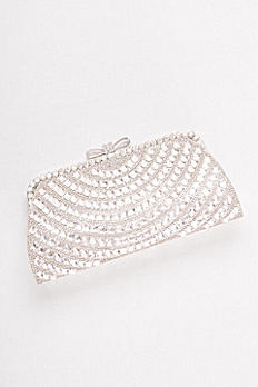Allover Crystal Bow-Top Clutch S2064FJ