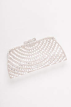 Allover Crystal Bow-Top Clutch