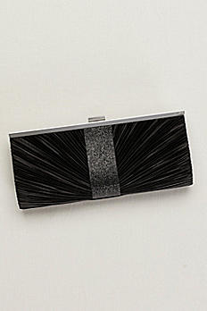 Pleated Clutch with Shimmer S2082F