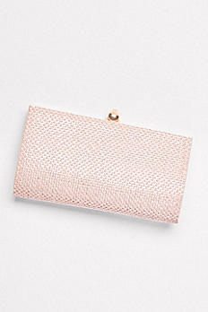 Crystal Clutch with Satin Back S2371FJ