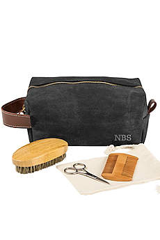 Personalized Dopp Kit with Beard Grooming Set