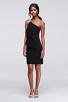 One Shoulder Short Jersey Dress S273470