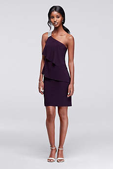 Short Sheath One Shoulder Cocktail and Party Dress - Scarlett Nite