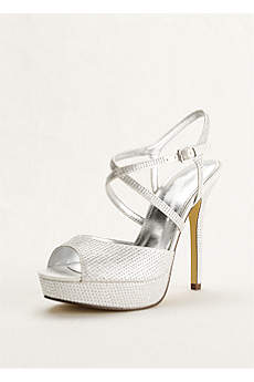 Touch of Nina Grey Sandals (Touch of Nina Crisscross Strap Platform Sandal)