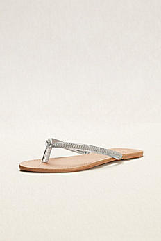 Crystal Embellished Thong Sandal SAM