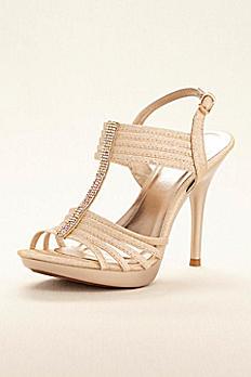 Crystal T-Strap High Heel Sandal SANYO201