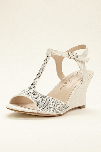 Glitter T-Strap Wedge Sandal SANYA2