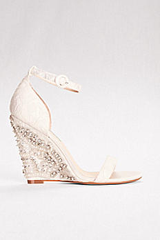 High Heel Embellished Wedges with Ankle Strap SBALISA