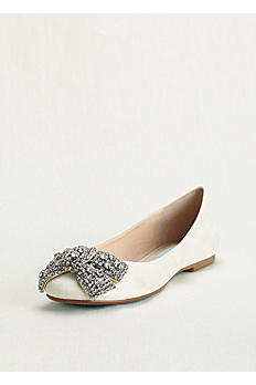 Blue by Betsey Johnson Embellished Bow Ballet Flat SBEVER