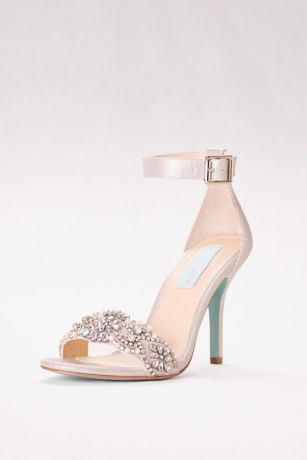 Silver Open Toe Shoes Low Heel
