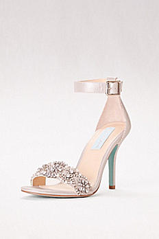 Embellished High Heel Sandals with Ankle Strap SBGINA