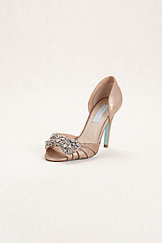 Blue by Betsey Johnson High Heel Peep Toe Pump SBGOWN