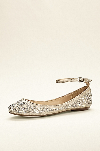 Blue by Betsey Johnson Crystal Ballet Flat SBJOY