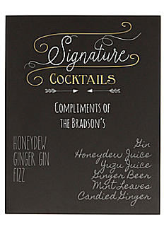 Personalized Cocktail Menu Chalkboard Sign SC-2140-7