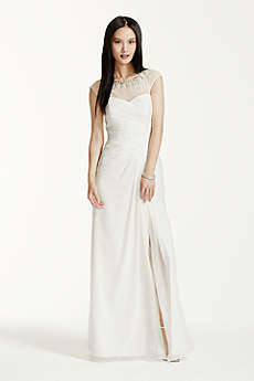 Long A-Line Simple Wedding Dress - DB Studio