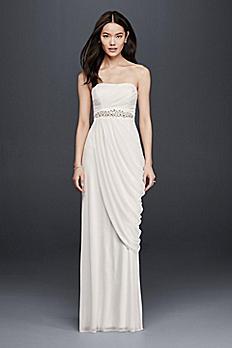 Sheath Wedding Dress with Beading and Side Drape SDWG0417