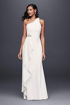 Long Sheath Simple Wedding Dress - DB Studio
