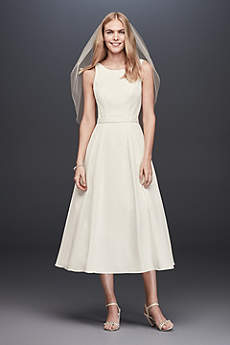 Short A-Line Casual Wedding Dress - DB Studio