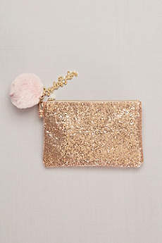 Bride's Babes Glitter Pouch with Pompom Keychain