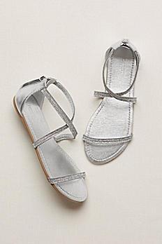 Crystal Crisscross Strap Sandal SHARI2