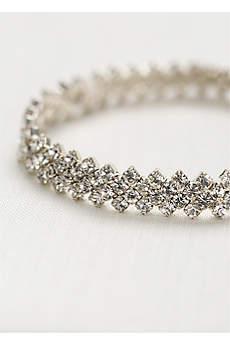 Crystal Bracelet with Zig-Zag Edge