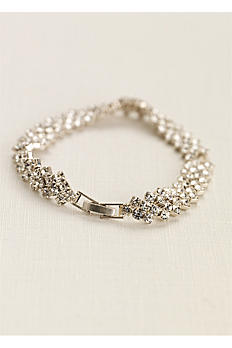 Crystal Bracelet with Zig-Zag Edge SL-0071