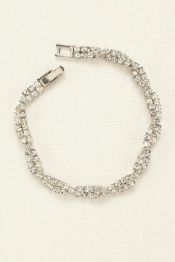 Twisted Pave Rhinestone Bracelet SL0088