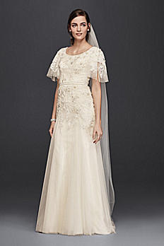 Melissa Sweet  Modest A-Line Wedding Dress SLMS251111