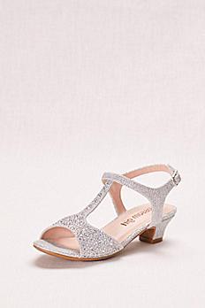 Glitter Girls' T-Strap Low Heel Sandal SURI10