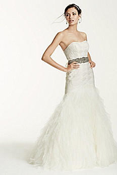 As-Is Extra Length Gown with Basket Woven Bodice AI26030045