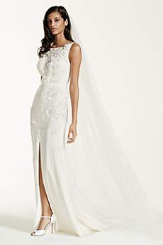 Long Sheath Romantic Wedding Dress - Galina Signature