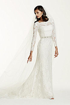 Long Sleeve Wedding Dress with Beaded Lace SWG685