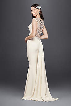 Long Sheath Beach Wedding Dress - Galina Signature