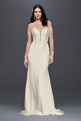 Long Sleeve Wedding Dresses &amp Gowns  David&39s Bridal