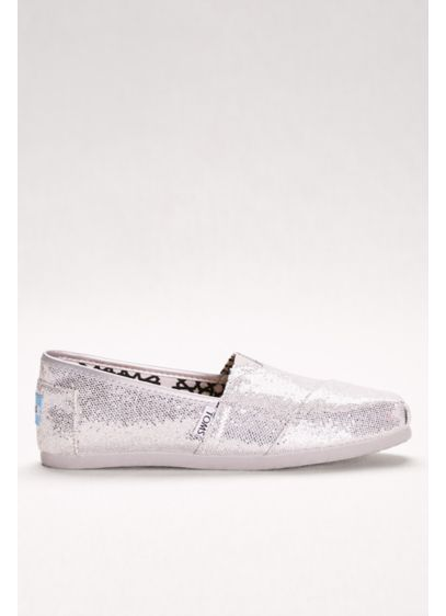 TOMS Grey (TOMS Glitter Classic Slip-On Shoes)
