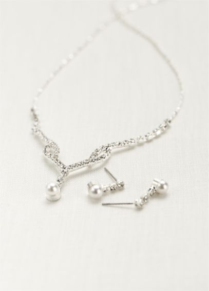 Crystal Single Pearl Drop Set 051N