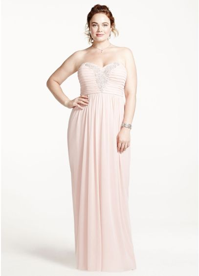 Long Sheath Strapless Prom Dress - City Triangles