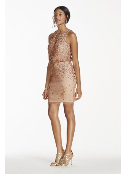 Short Sheath Halter Cocktail and Party Dress - Adrianna Papell