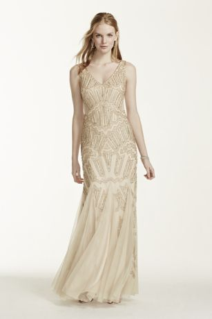 Gold Evening Dresses Adrianna Papell