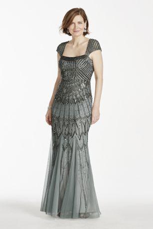 Long Sleeve Beaded Dress