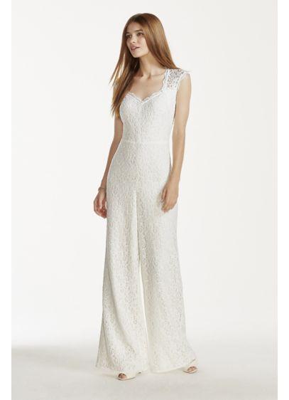 Long Jumpsuit Beach Wedding Dress - DB Studio