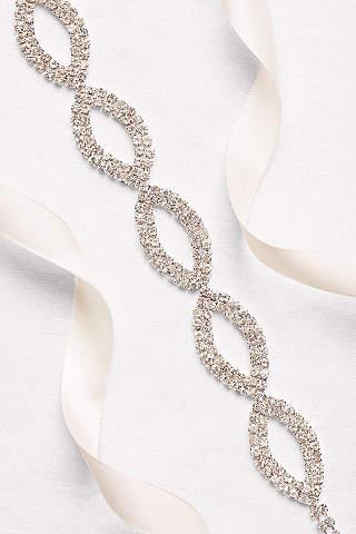 Cinta con Cristales Incrustados, Diseño Oval y Doble Listón
