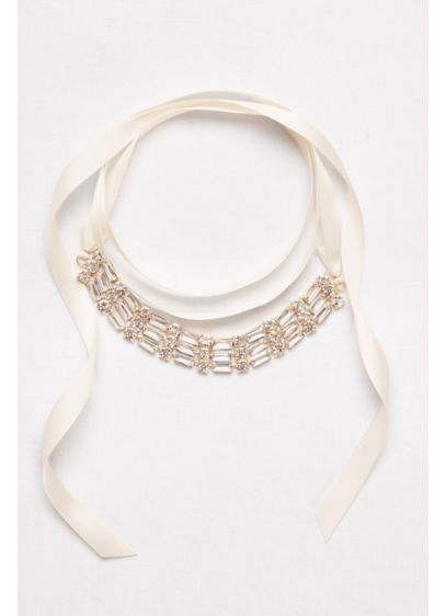 Mixed Baguette Wrap Choker - Wedding Accessories