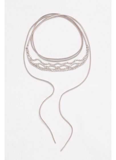 Wide Stone Wrap Choker - Wedding Accessories