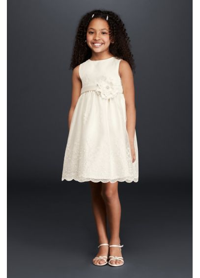 Allover Lace Flower Girl Dress 09013